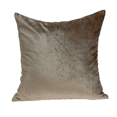 ArtFuzz 18 inch X 7 inch X 18 inch Transitional Taupe Solid Pillow Cover with Down Insert