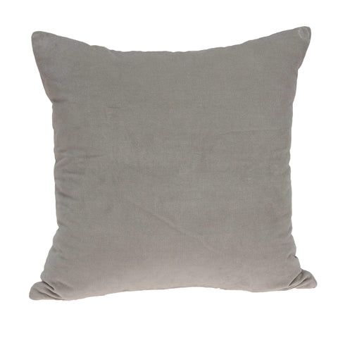 ArtFuzz 18 inch X 7 inch X 18 inch Transitional Gray Solid Pillow Cover with Poly Insert