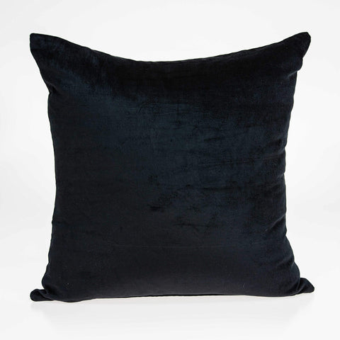 ArtFuzz 20 inch X 0.5 inch X 20 inch Transitional Black Solid Pillow Cover