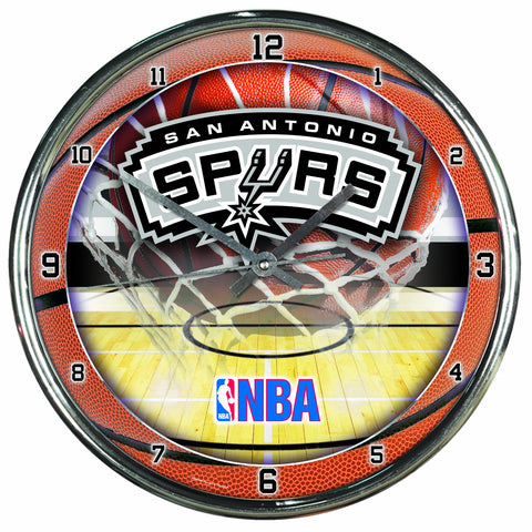 NBA San Antonio Spurs Chrome Clock