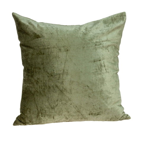 ArtFuzz 22 inch X 7 inch X 22 inch Transitional Olive Solid Pillow Cover with Down Insert