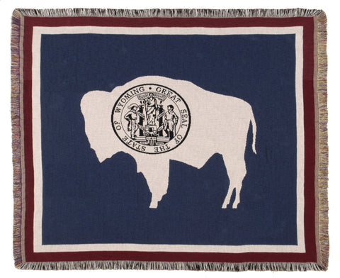 Simply Flag of Wyoming Tapestry Throw