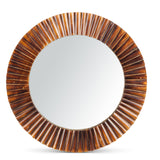 Lone Elm Wall Art Bamboo Fluted Mirror