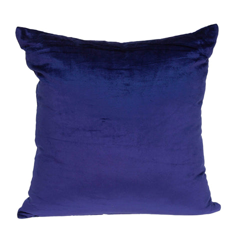 ArtFuzz 18 inch X 7 inch X 18 inch Transitional Royal Blue Solid Pillow Cover with Down Insert