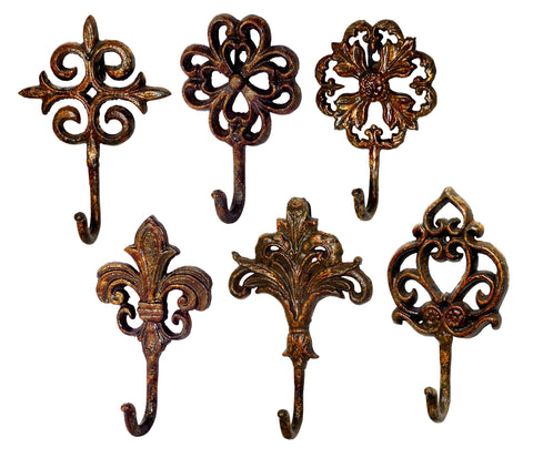A&B Home Annabelle Wall Hooks, Set of 6