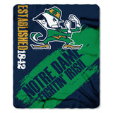 "The Northwest Company NCAA Notre Dame Fighting Irish Blanket50x60 Fleece Painted Design 2018, Team Color, 50""x60"""