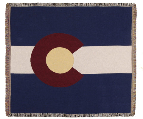 Simply Flag of Colorado Tapestry Throw