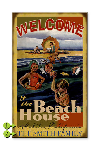 Welcome to the Beach House Wood 23x39
