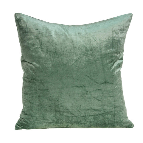 ArtFuzz 22 inch X 7 inch X 22 inch Transitional Green Solid Pillow Cover with Poly Insert