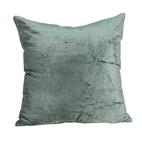 ArtFuzz 20 inch X 7 inch X 20 inch Transitional Sea Foam Solid Pillow Cover with Down Insert