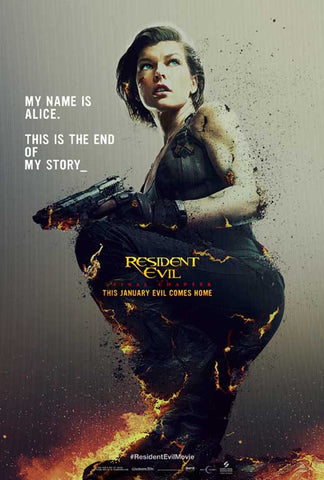 Resident Evil: The Final Chapter 27 x 40 Movie Poster - Style D
