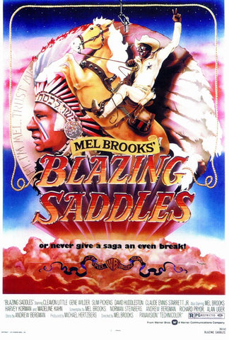 Blazing Saddles 27 x 40 Movie Poster - Style A