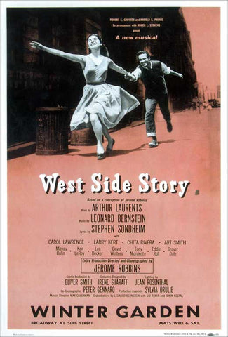 West Side Story (Broadway) 14 x 22 Poster - Style B