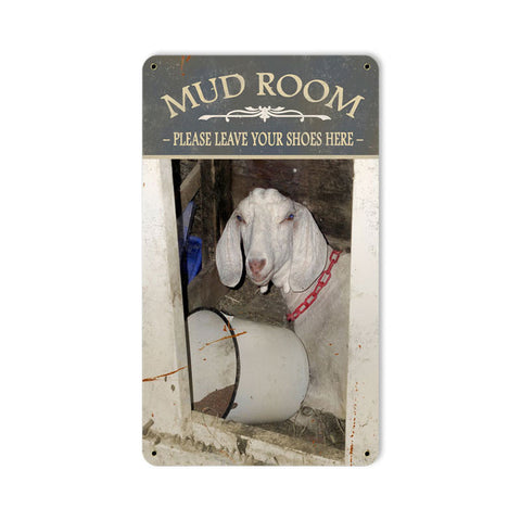 Mud Room Metal Sign Wall Decor 8 x 14