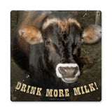 Drink More Milk Metal Sign Wall Decor 12 x 12