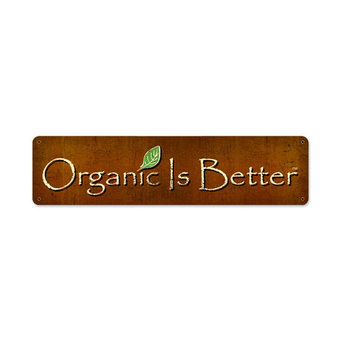 Organic Metal Sign Wall Decor 20 x 5