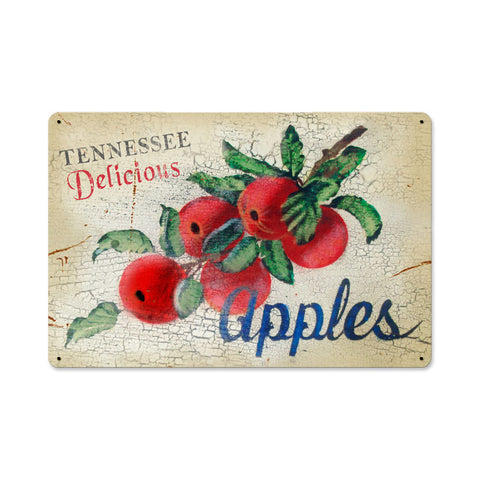 Tennessee Apples Metal Sign Wall Decor 18 x 12