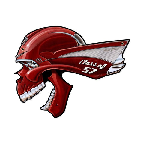 Chevy Skull Class Of '57 Metal Sign Wall Decor 20 x 16