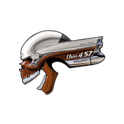 Buick Skull Class Of '57 Metal Sign Wall Decor 22 x 16