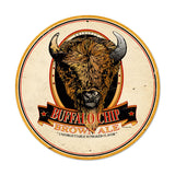 Buffalo Chip Brown Ale Metal Sign Wall Decor 14 x 14
