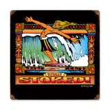 Stoked Metal Sign Wall Decor 12 x 12