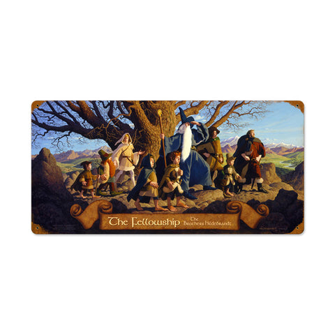 The Fellowship Metal Sign Wall Decor 24 x 12