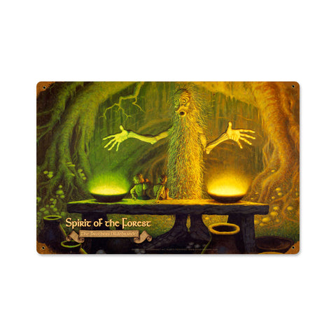 Spirit of the Forest Metal Sign Wall Decor 18 x 12