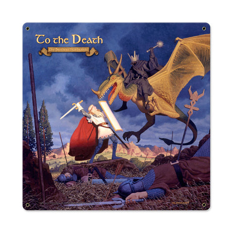 To The Death Metal Sign Wall Decor 18 x 18