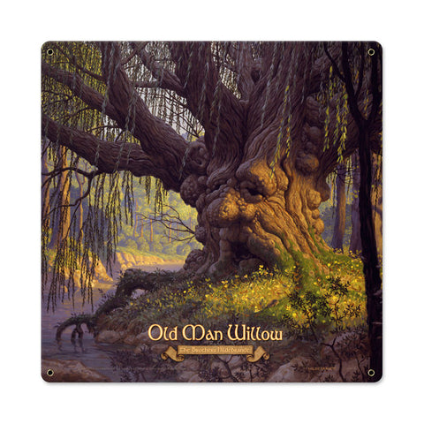 Old Man Willow Metal Sign Wall Decor 18 x 18