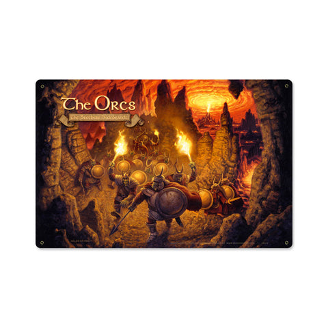 The Orcs Metal Sign Wall Decor 18 x 12
