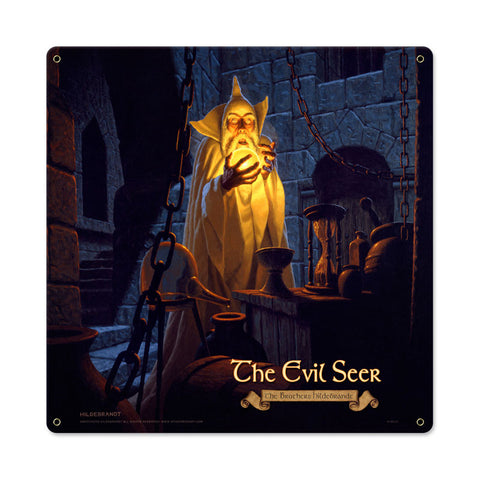 The Evil Seer Metal Sign Wall Decor 18 x 18