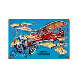 Gilmore Airplane Metal Sign Wall Decor 18 x 12