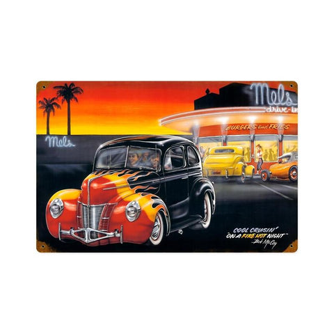 Cool Crusin Metal Sign Wall Decor 18 x 12