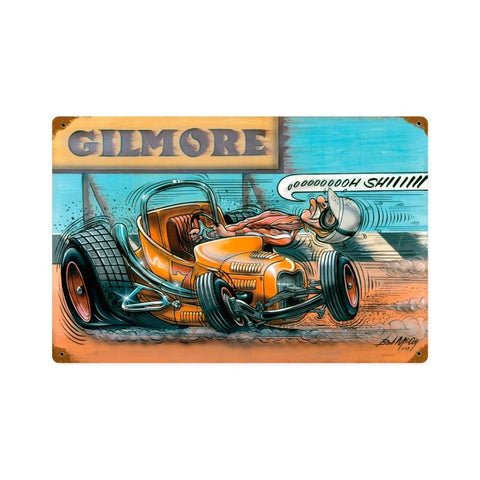 Gilmore Racer Metal Sign Wall Decor 18 x 12