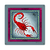 Scorpio Metal Sign Wall Decor 18 x 18