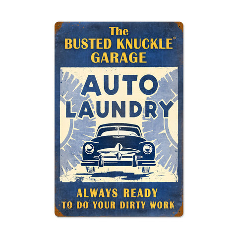 Auto Laundry Metal Sign Wall Decor 16 x 24