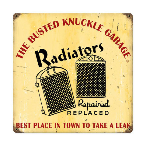 Radiator Repair Metal Sign Wall Decor 12 x 12