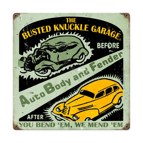 Auto Body Shop Metal Sign Wall Decor 12 x 12