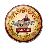 Busted Knuckle Garage Metal Sign Wall Decor 14 x 14