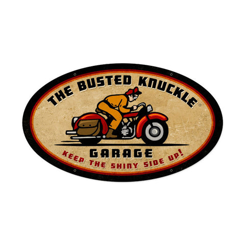 Retro Rider Metal Sign Wall Decor 24 x 14