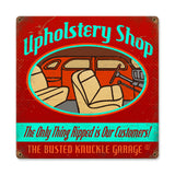 Upholstery Shop Metal Sign Wall Decor 12 x 12
