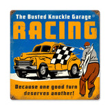 Racing Metal Sign Wall Decor 12 x 12