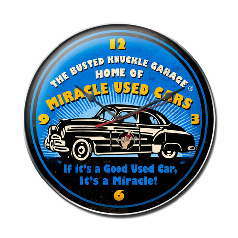Miracle Used Cars Metal Sign Wall Decor 14 x 14