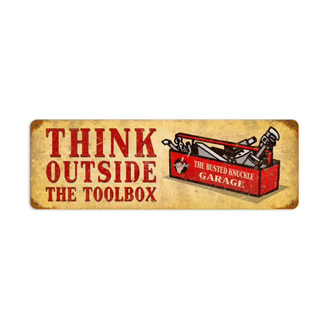 Outside the Toolbox Metal Sign Wall Decor 24 x 8