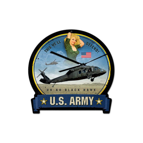 Army Blackhawk Metal Sign Wall Decor 16 x 15