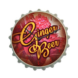 Ginger Beer Metal Sign Wall Decor 16 x 16