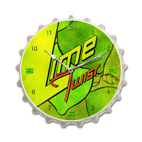 Lime Twist Metal Sign Wall Decor 14 x 14