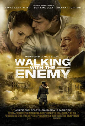 Walking with the Enemy 27 x 40 Movie Poster - Style B - in Deluxe Wood Frame