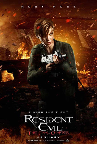 Resident Evil: The Final Chapter 27 x 40 Movie Poster - Style J