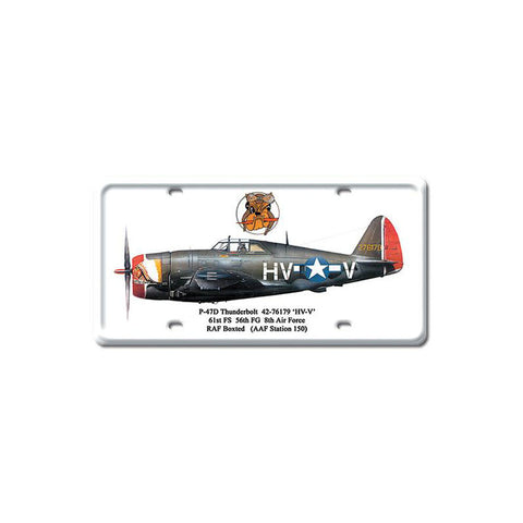 P-47D Thunderbolt Metal Sign Wall Decor 6 x 12